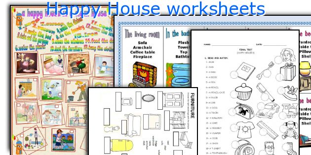 Happy House worksheets