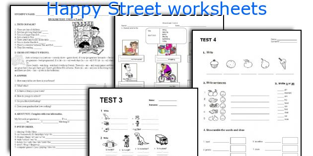 Happy Street worksheets