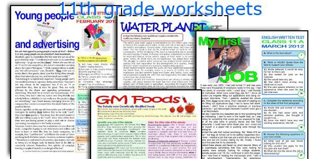 11th grade worksheets