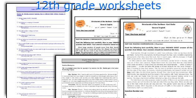 Worksheets 12th Grade English Worksheets english teaching worksheets 12th grade worksheets