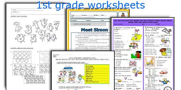 1st grade worksheets