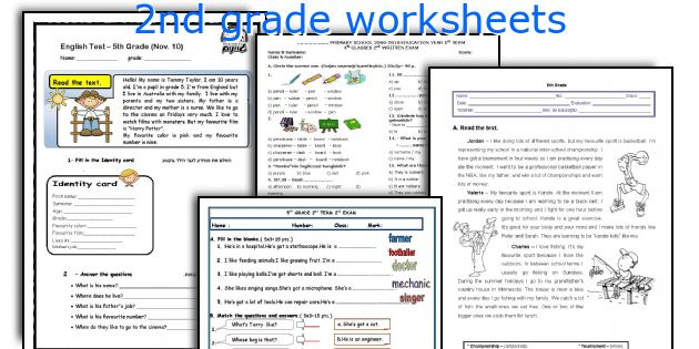 2nd grade esl worksheets