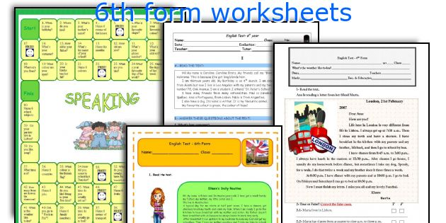 6th form worksheets