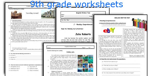 English teaching worksheets 9th grade – 9th Grade Language Arts Worksheets