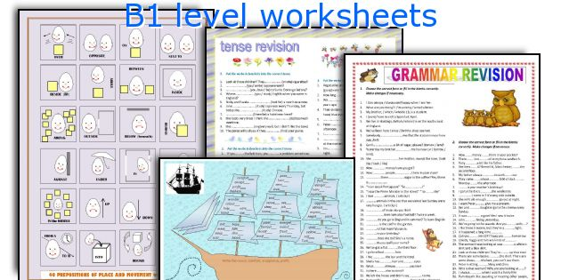 B1 level worksheets