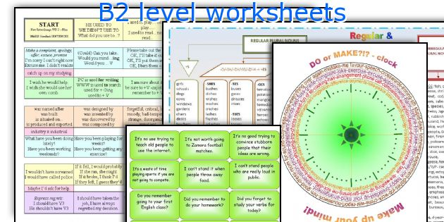 B2 level worksheets