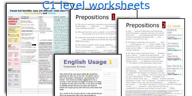 C1 level worksheets