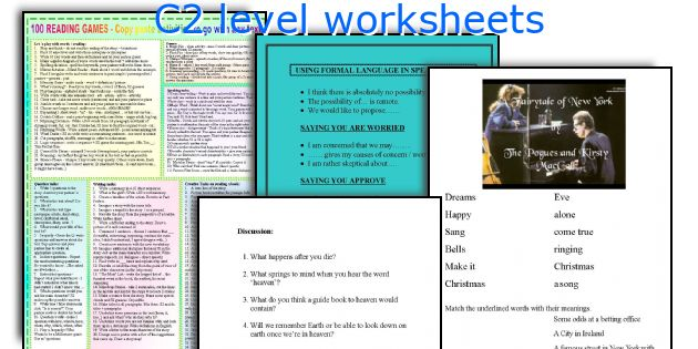 C2 level worksheets