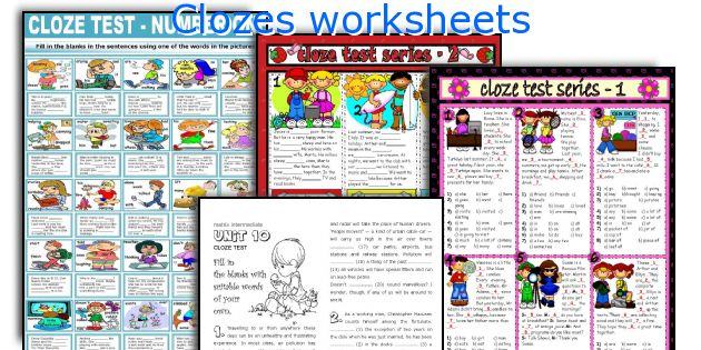 Clozes worksheets