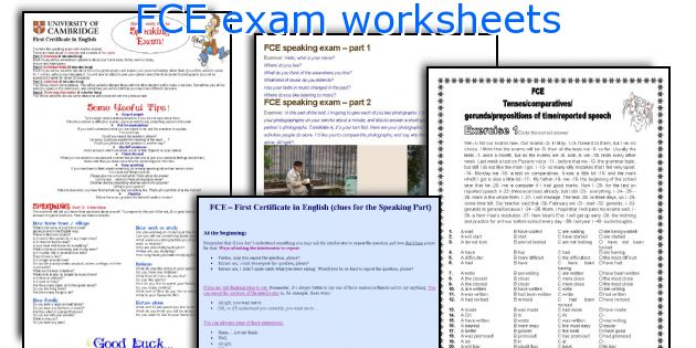 FCE exam worksheets
