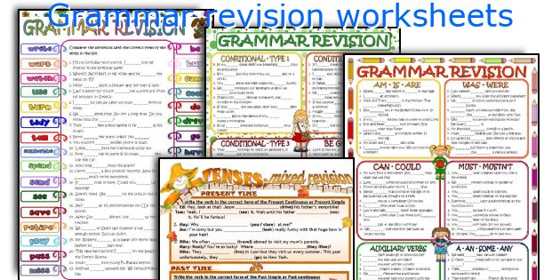 Grammar revision worksheets