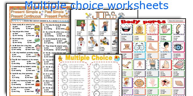 Multiple choice worksheets