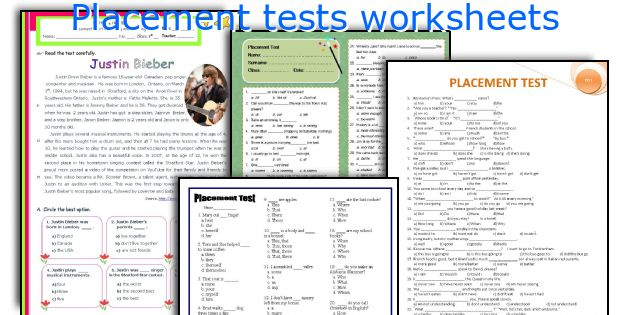 photograph about Free Printable Placement Test identify Position checks worksheets