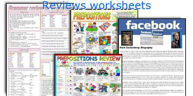 Reviews worksheets