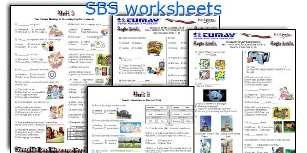 SBS worksheets