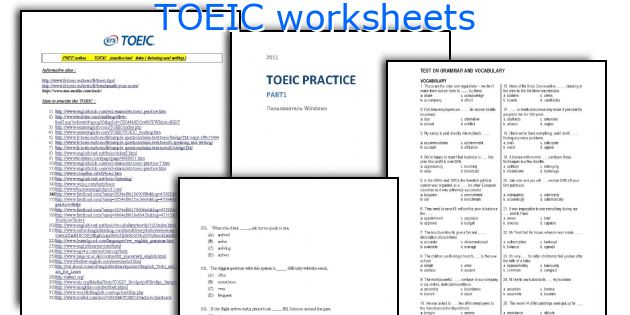TOEIC worksheets