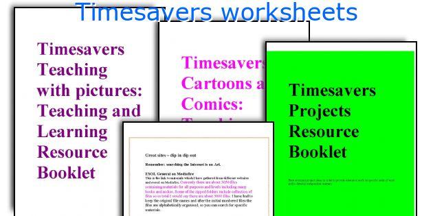Timesavers worksheets