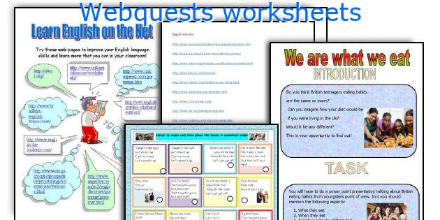 Webquests worksheets