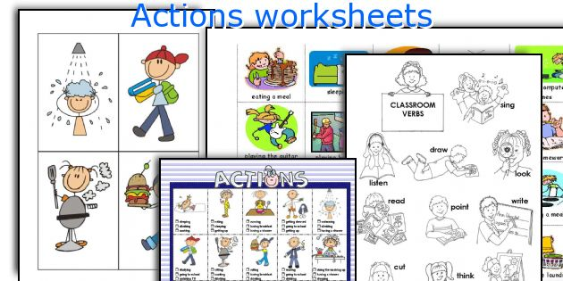 Actions worksheets