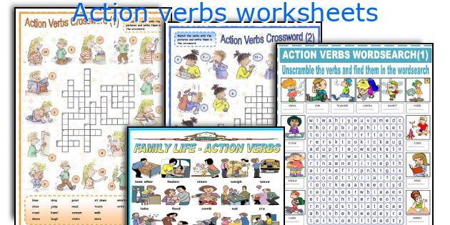 english teaching worksheets action verbs - Action Berbs