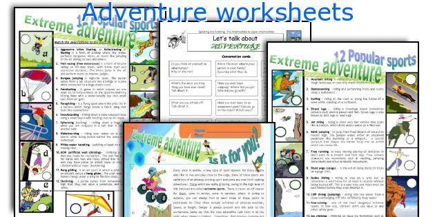 Adventure worksheets
