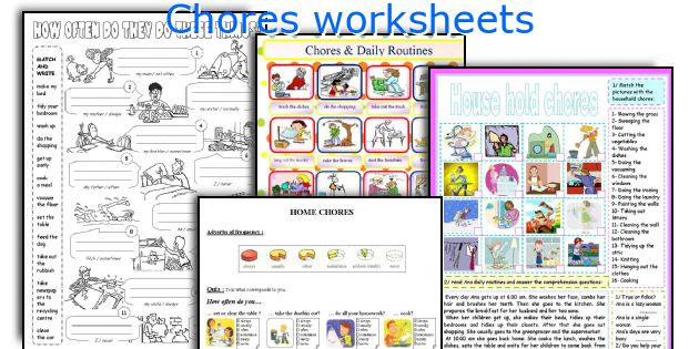 Chores worksheets