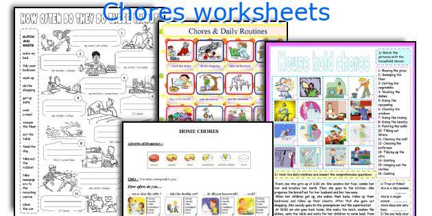 Chores worksheets