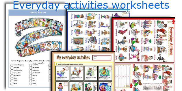 Everyday activities worksheets