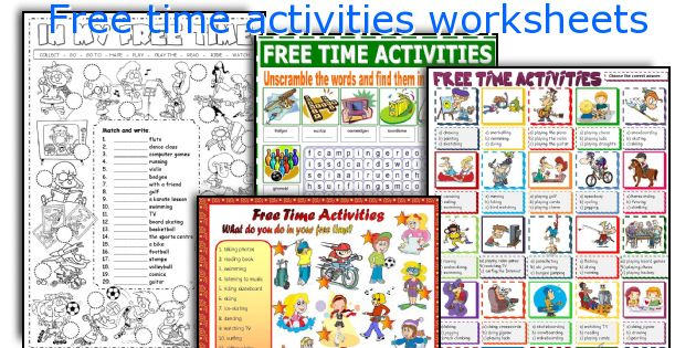 Free time activities worksheets