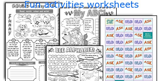 Fun activities worksheets