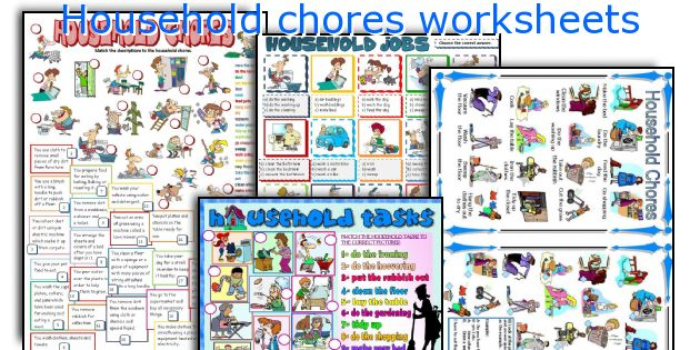 Household chores worksheets