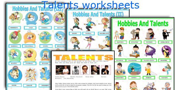 Talents worksheets
