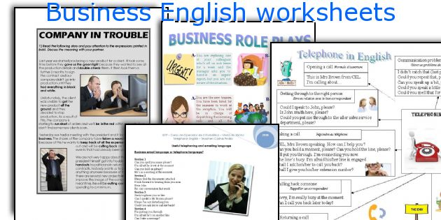 Worksheets Business English Worksheets english teaching worksheets business english