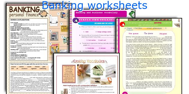 Banking worksheets