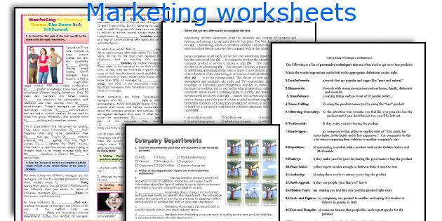 marketing mix worksheet These worksheets are designed to assist you in writing a formal internet  marketing plan worksheets  marketing mix a (to meet the needs of target  market a.
