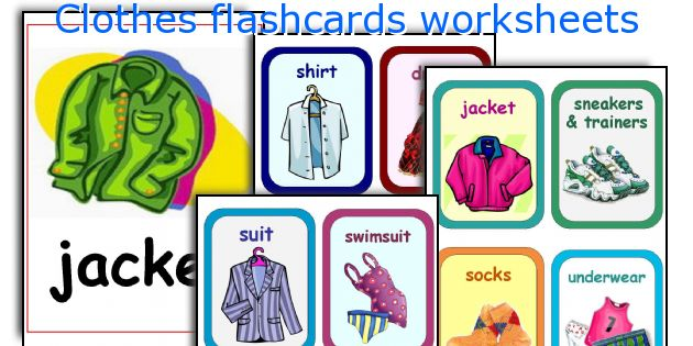 clothes flashcards worksheets worksheets and activities for teaching ...
