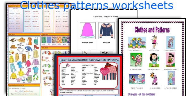 English Teaching Worksheets Clothes Patterns