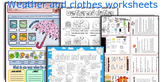 Weather And Clothes Worksheets