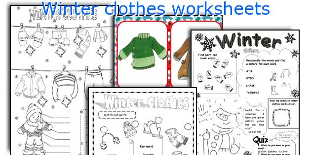 Winter Clothes Worksheets. Kindergarten. Winter Clothes Worksheet For Kindergarten At Mspartners.co