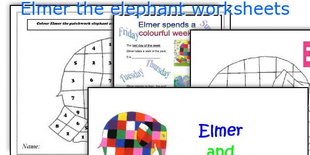 It is an image of Elmer the Elephant Printable pertaining to blank