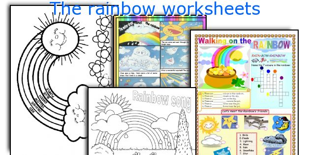 English teaching worksheets: The rainbow