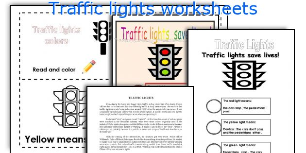 English teaching worksheets: Traffic lights
