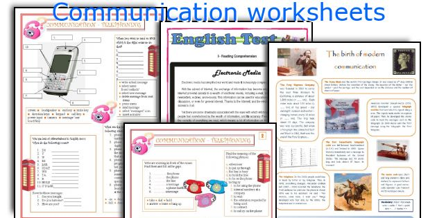 Communication worksheets