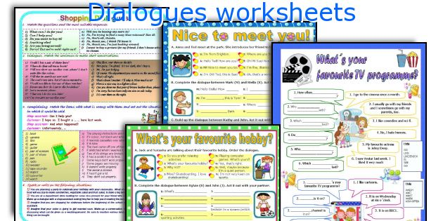 Dialogues worksheets