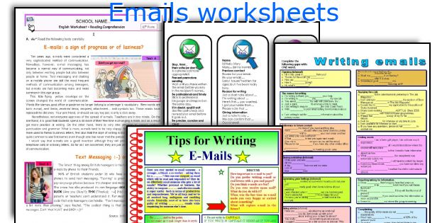 Emails worksheets