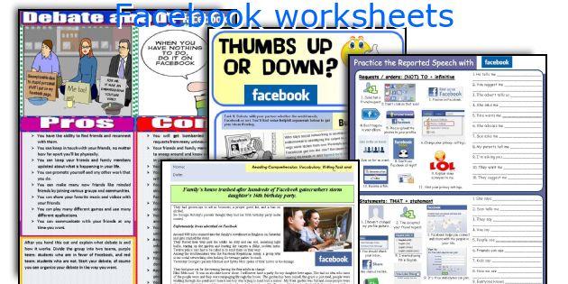 Facebook worksheets
