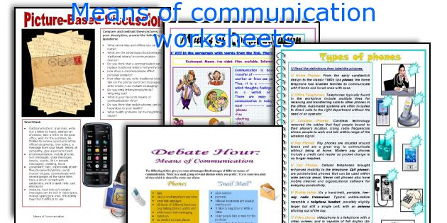 Lesson plan on means of communication for grade 1