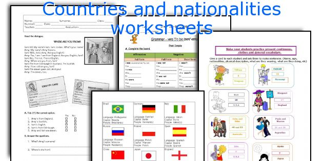 All these worksheets and activities for teaching Countries and ...