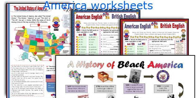 America worksheets