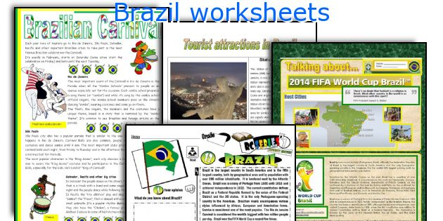 Brazil worksheets